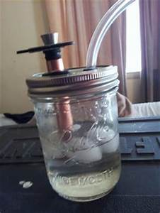 homemade dab rig mason jar