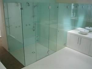 Grande Cabine De Douche : grande salle de bain douche cabine porte verre ideeco ~ Dailycaller-alerts.com Idées de Décoration