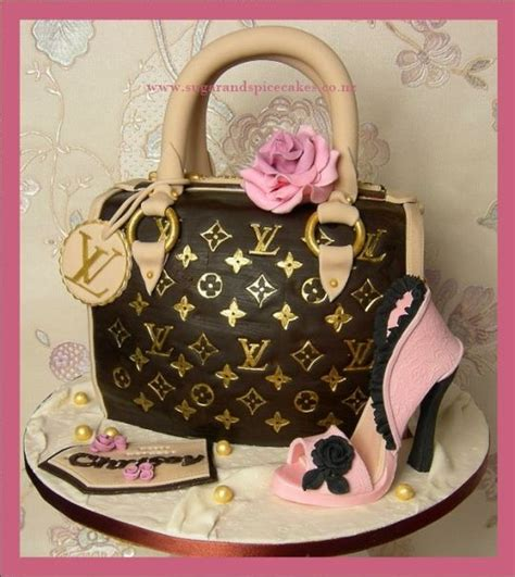 louis vuitton handbag cake  sugar stiletto cake