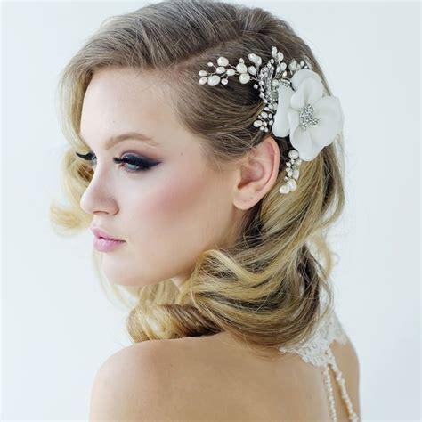 flower headpiece wedding ideas  pinterest