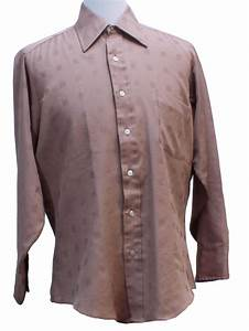 7039s vintage shirt 70s blank label mens brown With blank label shirts