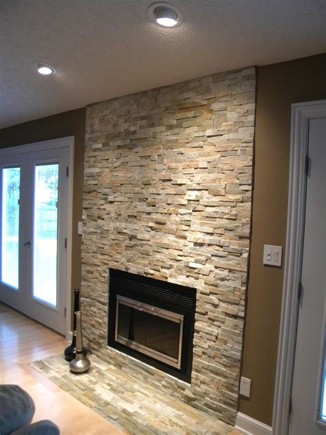 Love This Stone Veneer Fireplace Columbus Transitional