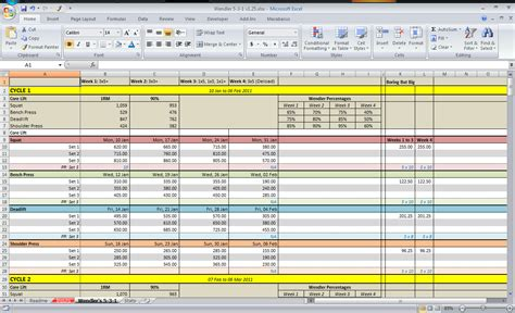 bodybuilding excel template 531 spreadsheet all things