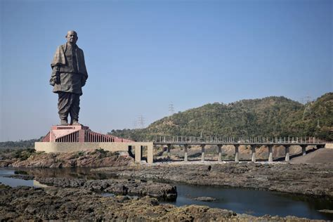 modis statue  unity  india  visible  space