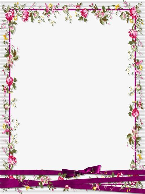 Border Picture Hd by Floral Border Design Graphic Design Flowers Frame Png
