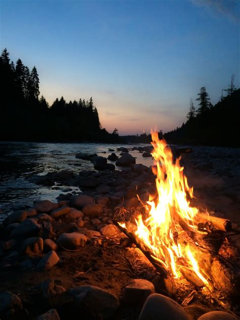 Campfire Sunset | This is just a quick Smartphone Shot by ...