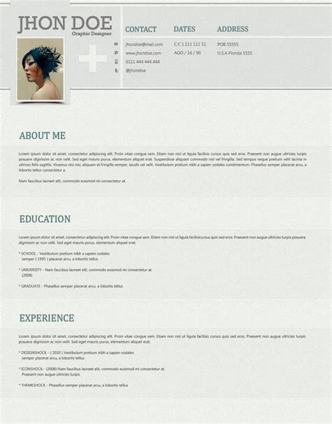 Stylish Resume Templates by Clean And Stylish Photoshop Resume Template Open Resume