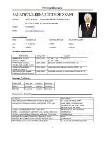 template resume bahasa melayu contoh cover letter fresh graduate mechanical engineering contoh z