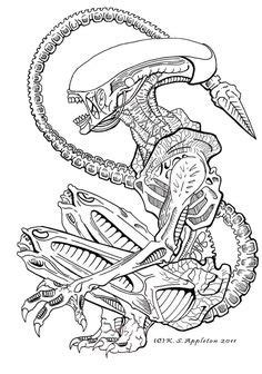 sci fi colouring pages images predator art