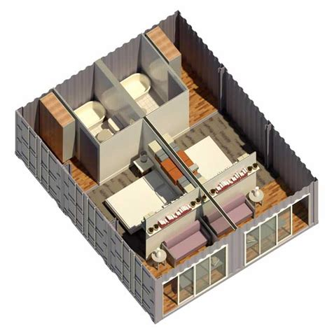 one floor home plans shipping container one community open source