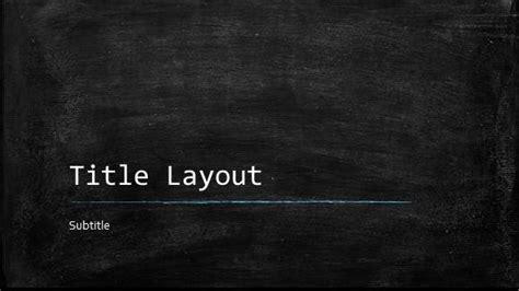 Free Classroom Chalkboard Template For Powerpoint Online