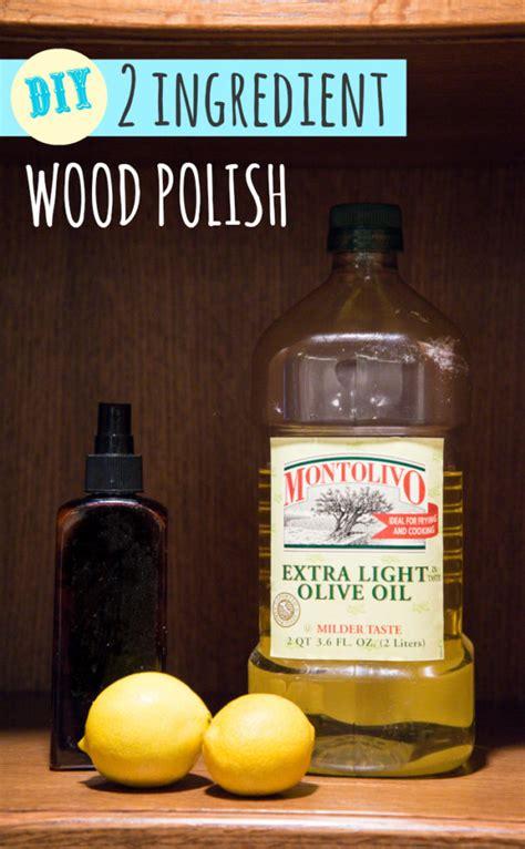 simple  ingredient diy wood polish happy money saver