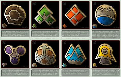 Pokemon Gym Badges 3d Sinnoh League By Robbienordgren On