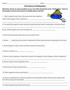 The Science of Finding Dory~Movie Worksheet by sventresca ...