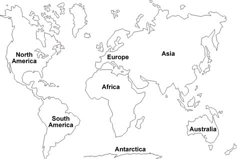 blank continents map  cool funny