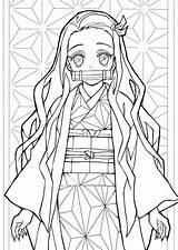 Slayer Demon Coloring Tanjiro Printable Wonder sketch template