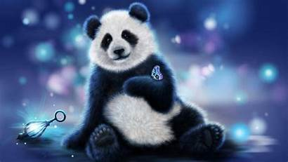 Panda Anime Wallpapers Christmas Bear Gambar Pandas