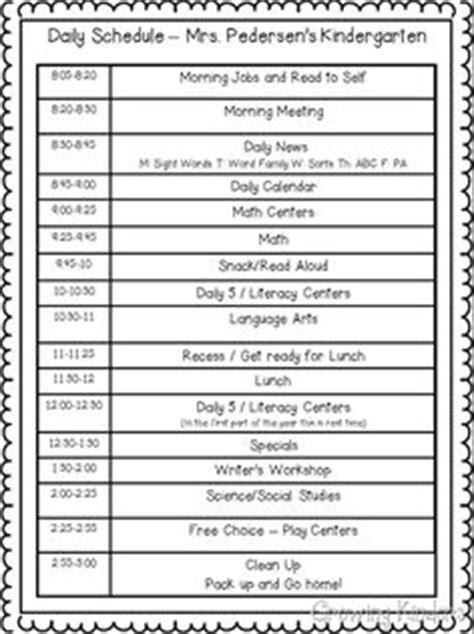 1000 ideas about kindergarten schedule on 903 | b7e196234ac16b5f1a284d60f870d811