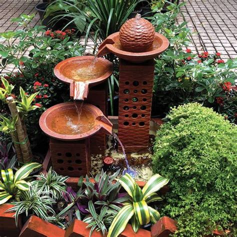 small outdoor water fountains backyard design ideas