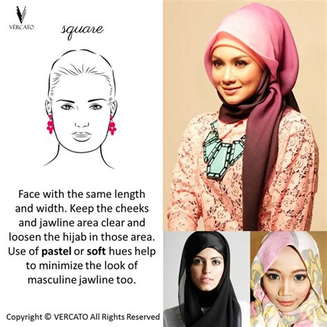 hijab tips  square face shape shop muslimah wear www
