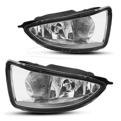 For Honda Civic Jdm Clear Bumper Fog Lights