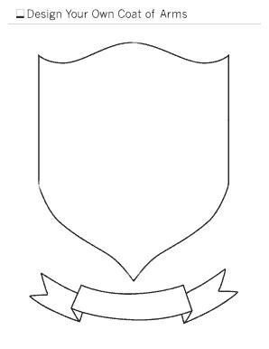 coat of arms template coat of arms template fill printable fillable blank pdffiller