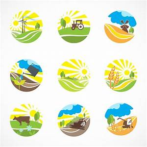 Nine farm scenes Vector | Free Download