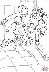 Bed Bedroom Hunt Bear Going Coloring Under Printable Berenjacht Covers Op Gaan Pages Re Wij Into Sheets Printables Activities Google sketch template