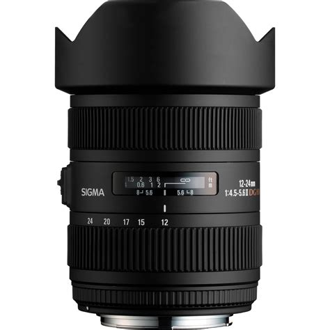 sigma 12 24mm f 4 5 5 6 dg hsm ii lens for nikon 204306 b h