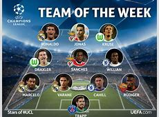 Real Madrid Three Real Madrid players in UEFA's 'Team of