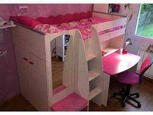 Lit Combiné Bureau Fille : lit enfant lilou pi ti li ~ Melissatoandfro.com Idées de Décoration