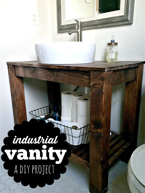 diy rustic bathroom vanity plans diy industrial farmhouse bathroom vanity industrial