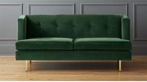 cb2 apartment sofa avec green velvet apartment sofa cb2 thesofa