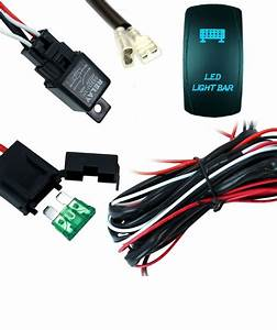 Led Work Light Bar Wiring Harness Kit Cable With Laser