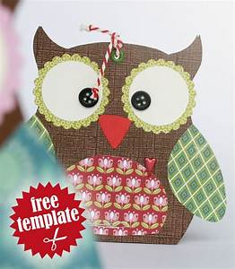 free template owl gift box my paper tutorials With owl pillow box template