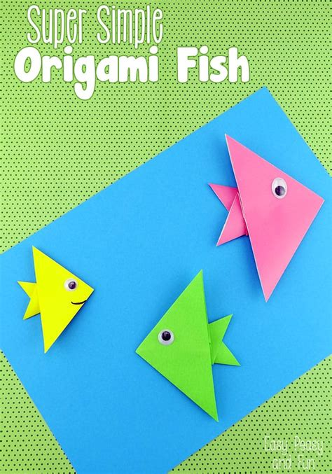 easy origami fish origami  kids easy peasy  fun