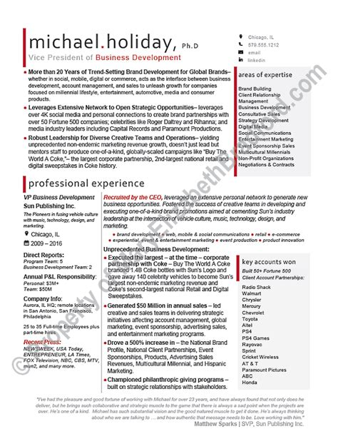 executive resume sample vice president executive resume