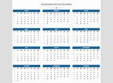 Calendario de Colombia 2016 Calendario de Colombia