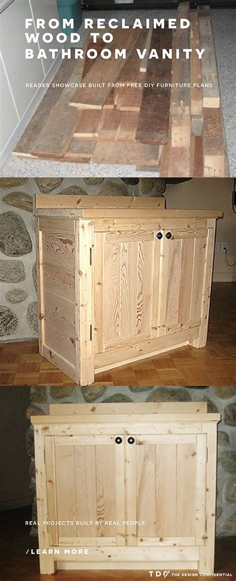 How To Make A Rustic Bathroom Vanity by How To Build A Bathroom Vanity Woodworking Projects Plans