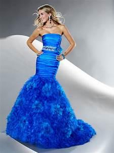 Getting Slim Bridal Look with Royal Blue Mermaid Wedding ...
