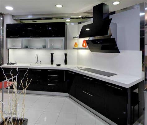 cocinas en rojo blanco cocina planos  negro