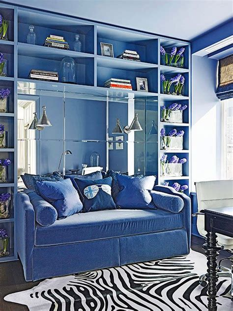 Monochromatic Blue Living Room by Bhg Style Spotters Monochromatic Decorating Pencil
