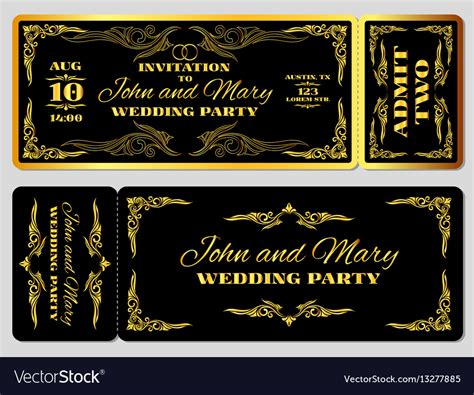 Black And Gold Invitation Template • Business Template Ideas