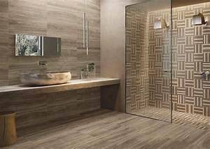 salle de bain moderne les tendances actuelles en 55 photos With carrelage mural pierre salle de bain