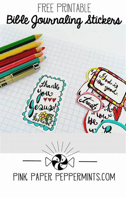 Bible Journaling Stickers Printable Journal Printables Scripture