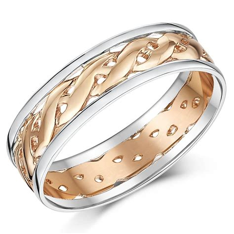9ct rose gold silver celtic wedding ring band fully hallmarked 6mm or 7mm ebay