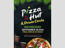 Pizza in the Hut & Drum Circle Chabad of Alabama