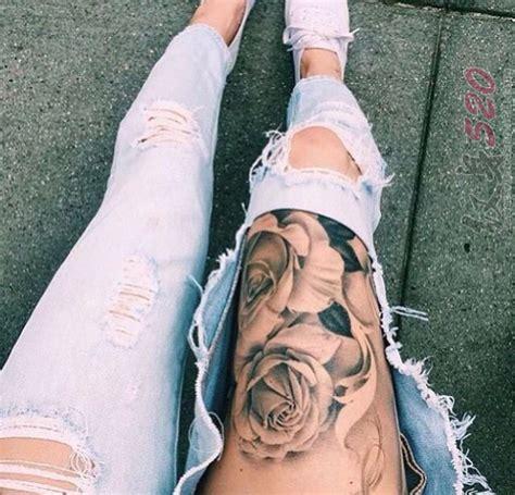 Leg Tattoo Wearing Jeans 1