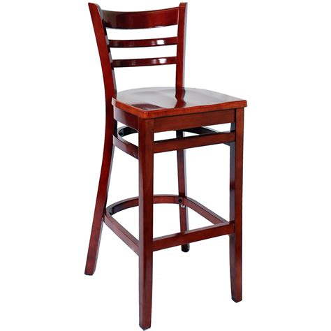 White Wooden Bar Stools With Backs by Ladder Back Wood Bar Stools