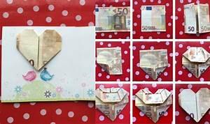 Geschenke Für 50 Euro : geld falten herz 3 anleitungen und verschiedene ideen ~ Frokenaadalensverden.com Haus und Dekorationen